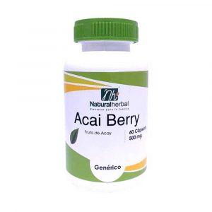 Acai Berry 60 Caps 500 mg Supresores de Apetito