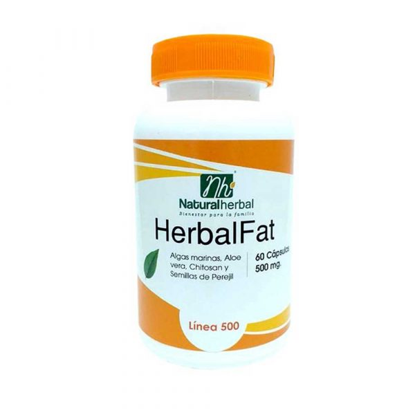 Herbal Fat 60 Caps 500 mg Bloqueador de Grasas